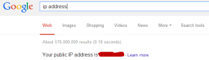 Find your IP address