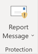 Outlook Report Message 'phishing' button